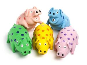 Multipet Globlet Pig Dog Toy Assorted Colors