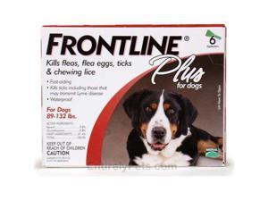 Frontline Flea Control Plus for Dogs, Puppies 89-132 lbs 6 Pack - 89-132-6PK-PS