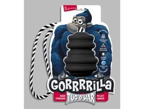 Multi Pet Gorrrrilla Rubber Toy W/Rope Medium Extreme Black