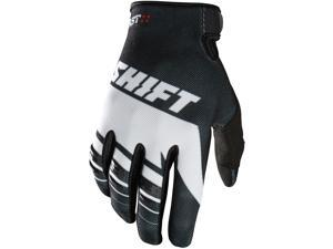 Shift Racing Assault Youth Boys MX Motorcycle Gloves - Black/White / Large