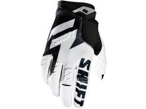 Shift Racing Faction Men's Off-Road Motorcycle Gloves - Black/White / Medium