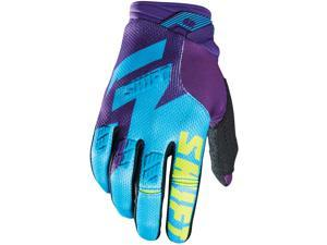 Shift Racing Faction Men's Off-Road Motorcycle Gloves - Purple/Yellow / Large