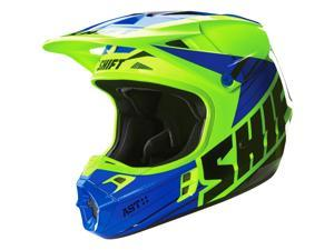 Shift Racing Assault Men's Off-Road Motorcycle Helmets - Yellow/Blue / Medium