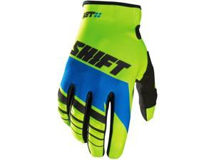 Shift Racing Assault Youth Boys MX Motorcycle Gloves - Yellow/Blue / Small