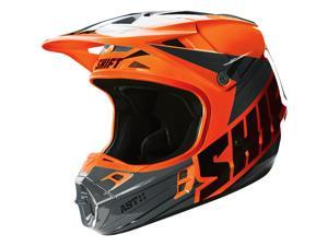 Shift Racing Assault Men's Off-Road Motorcycle Helmets - Orange / Small
