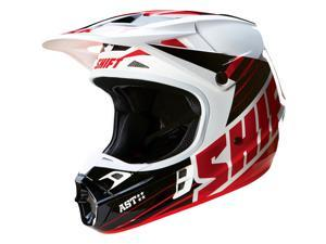 Shift Racing Assault Men's Off-Road Motorcycle Helmets - Black/White / Small