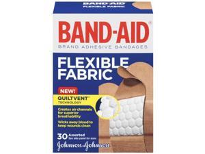 Band-Aid Brand Adhesive Bandages, Flexible Fabric, 30 Count