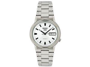 Seiko SNXE89 Mens Watch Seiko 5 Automatic Dress Watch Silver Dial