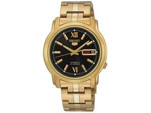 Seiko 5 Sports Men's Automatic Gold Plated  Black Dial