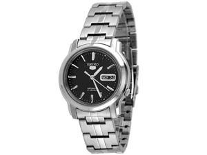 Seiko 5 Automatic Black Dial Stainless Steel Mens Watch SNKK71