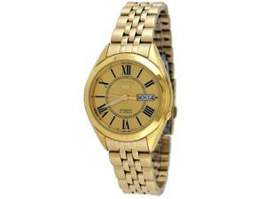 Seiko 5 SNKL38 Men's Stainless Steel Gold White Dial Self Winding Automatic Watch