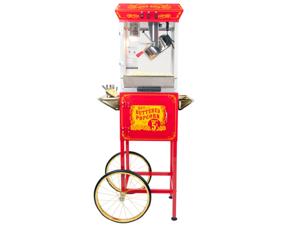 FunTime 8oz Red Popcorn Popper Machine Maker Cart Vintage Style- FT862CR