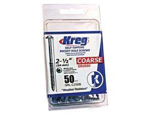 Wood Screw, #8, 2 1/2 In, Coarse, Blue, Pk 50