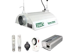 Virtual Sun 600W HPS MH Grow Light Hood Reflector Digital Ballast Dimmable 3pk