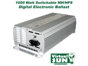 Virtual Sun 1000W Digital HPS MH Electronic Grow Light Power Ballast - 1000 Watt