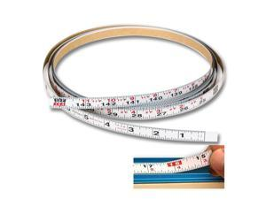 Steel 12 ft. SAE Adhesive Backed Tape Measure