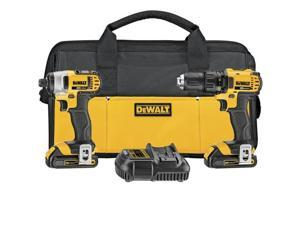 Refurbished: DeWalt DCK280C2R 20V MAX Cordless Lithium-Ion 1/2 in. Compact Drill Driver and Impact Driver Combo Kit