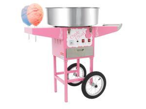 Funtime Commercial Candy Cloud Cotton Hard Candy Machine Floss Maker Cart FT1000