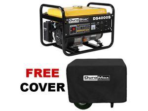 DuroStar 4000 Watt Portable RV Gas Generator Recoil Start - DS4000S With Cover