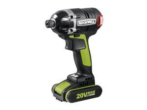 RK2860K2 20V Max Cordless Lithium-Ion 1/4 in. Brushless Impact Driver Kit