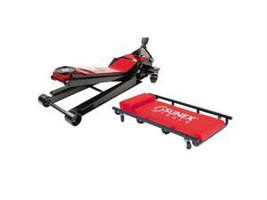 Sunex 6602LPPR 2-Ton 24-Inch Height Lowrider Floor Jack w/ Caster Creeper