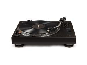 Crosley C200A-BK Black Balanced S-Shaped Tone Arm Direct Drive Turntable - Black