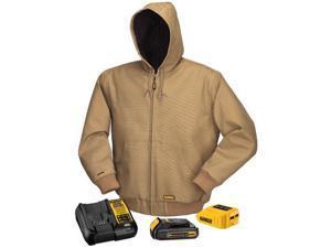 Dewalt DCHJ064C1-3XL Khaki 20/12-Volt MAX Hooded Heated Jacket Kit - 3XL