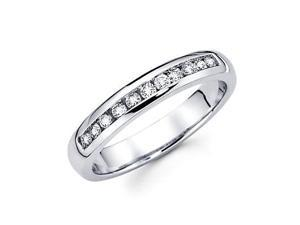 14k White Gold Mens Round Diamond Wedding Ring Band .40 ct (G-H Color, SI2 Clarity)