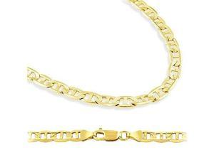 Solid 14k Yellow Gold Gucci Mariner Chain Necklace 5mm 24""