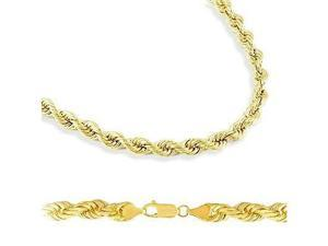 HEAVY 14k Solid Yellow Gold Rope Chain Necklace 6mm 22""