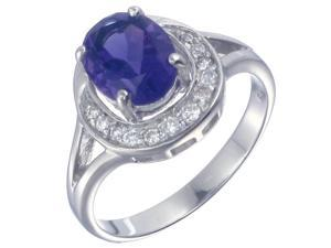 Sterling Silver Amethyst Ring (1.70 CT) In Size 8