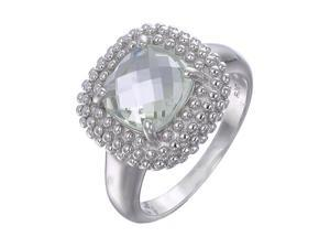 Vir Jewels Sterling Silver Green Amethyst Ring (2 CT) In Size 7