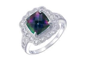 Vir Jewels Sterling Silver Mystic Topaz Ring (2 CT) In Size 7