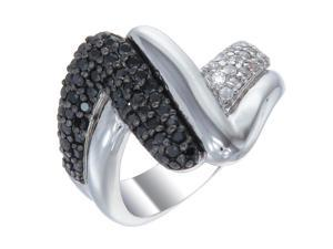 Vir Jewels Sterling Silver Black Diamond Ring (1.05 CT) In Size 8