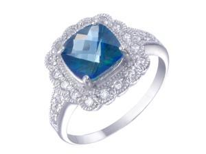 Sterling Silver Mystic Topaz Ring (2 CT) In Size 5