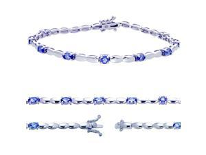 FineDiamonds9 B2609TZ Sterling Silver Tanzanite Bracelet