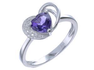Sterling Silver Amethyst Ring In Size 9