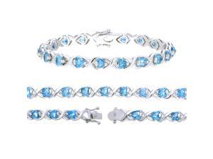 Sterling Silver Blue Topaz Bracelet (7.50 CT)