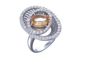 Sterling Silver Citrine Ring (2 CT) In Size 7