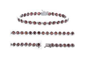 Sterling Silver Garnet Bracelet (6 CT)