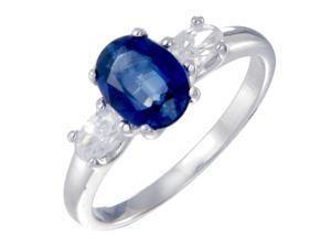 Sterling Silver Created Blue Sapphire Ring (1.20 CT) In Size 7