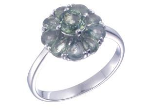 Sterling Silver Green Sapphire Ring (1.85 CT) In Size 7