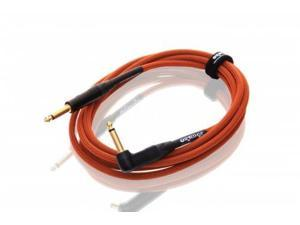 Orange 20' Orange Woven Right-Angle Instrument Cable