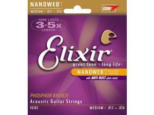 Elixir 16102 Phos/Bron NanoWeb Med Ac Guitar Strings