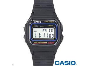 Casio W59-1V Classic Digital Sports Watch w/ Daily Alarm, Stopwatch - Black