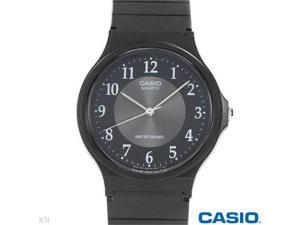 Casio Analog Rubber Strap Watch for Men (Black)