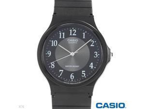 Casio Analog Rubber Strap Watch for Men (Black)