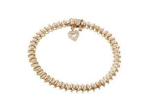 Ladies 0.65CTW Diamond 14K Yellow Gold Bracelet