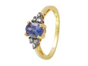 Ladies 1.13CTW Tanzanite 14K Yellow Gold Ring