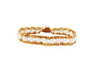 Ladies 14K Yellow Gold Bracelet With Pearl